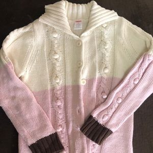 Gymboree Long Cable Knit Girls sweater